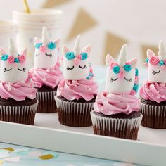 Magical Marshmallow Unicorn Cupcakes   Wilton