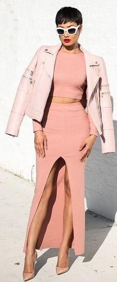 Shades Of Pink Chic Style by Micah Gianneli