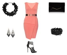 """""""Peach and Black...Perfet Combination"""" by normah on Polyvore featuring Giuseppe Zanotti, Dorothy Perkins, First People First, Furla and RedeemedClothing"""