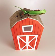 Instant Download Barn Favor Box, Farm Party Decoration, Gift Box, Custom Label & Box Lid, Barn Party Theme, Equestrian Theme, Country Party