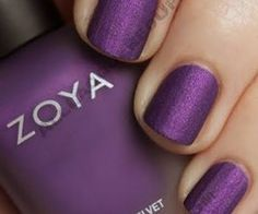 Zoya Matte Velvet Winter. Is it just me, or does this nail polish look like it has a linen finish? I know it's matte, but it looks textured, no?