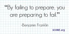 """""""By failing to prepare, you are preparing to fail. Benjamin Franklin, The Good Place, Fails, Mindfulness, Inspirational Quotes, Business, Amazing Places, Life Coach Quotes, Quotes Inspirational"""