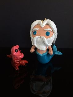 Custom Funko POP King Triton w/ Sebastian Disney The Little Mermaid ByDarthDusty
