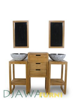 A modification of Kyoto Tropical Furniture we just add a drawer on the top of it, and it looks fantastic. Photo courtesy of Djawa Furni, Indonesian Contemporary Furniture. Furniture Board, Bathroom Furniture, Tropical Bathroom, Contemporary Furniture, Kyoto, Drawers, Table, Top, Home Decor