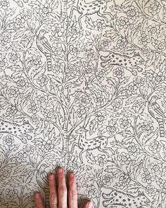 «♡ This wallpaper (Eden) by @sandbergandfriends design @sissasundling #sissasundling»