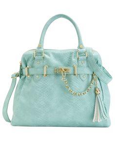 Steve Madden Handbag, Bnancy Snake Satchel - Steve Madden - Handbags & Accessories - Macy's