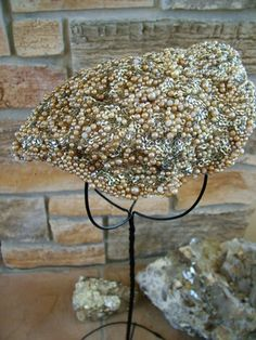 Vintage Pearl and Silver Sequin 1940s Hat
