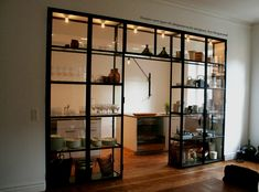 23 Multipurpose Room Divider Ideas for Stylish Apartment - Home Design and Decor Kitchen Wall Shelves, Wall Shelf Decor, Glass Shelves, Glass Cabinets, Wall Cabinets, Kitchen Remodel Cost, Multipurpose Room, Glass Kitchen, Closed Kitchen