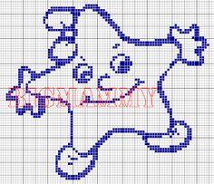 Multicolore Motivo: Trenino con Animali Kit per Punto Croce per Nascita Vervaco
