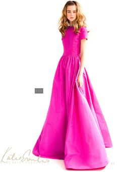 Katie Ermilio - Front of the pink dress