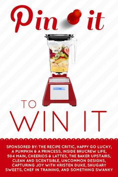 Pin it to Win it!  Blendtec Edition this week at http://therecipecritic.com #giveaway