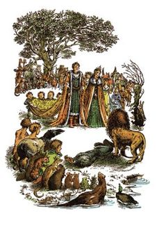 """'Rise up King and Queen of Narnia..."""" by Pauline Baynes ~ The Magician's Nephew 