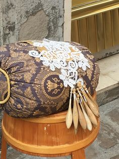Offida- city of lace makers Living In Europe, Lovely Shop, Bolster Pillow, Sarah J, Lace Making, Bobbin Lace, Highlight, Medieval, My Arts