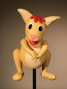 Joey Kangaroo, Custom Puppets, Crazy Owl, Types Of Puppets, Beetlejuice, Christmas Presents, Einstein, Pikachu, Early 2000s