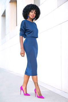 Shop Dresses at Classy Dress, Classy Outfits, Stylish Outfits, Work Fashion, Fashion Looks, Dress Outfits, Fashion Outfits, Dress Fashion, Modelos Fashion