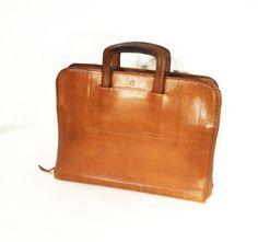 leather portfolio bag briefcase attache case by gillardgurl