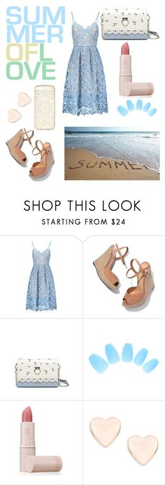 """""""Pastel Blue Summer"""" by mainlydisney ❤ liked on Polyvore featuring Schutz, Lipstick Queen and Ted Baker"""
