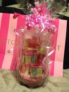 Victoria's Secret raffle basket creation for a Jack and Jill