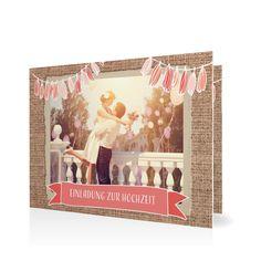 Hochzeitseinladung Rustique in Koralle - Klappkarte flach #Hochzeit #Hochzeitskarten #Einladung #Foto #kreativ #vintage https://www.goldbek.de/hochzeit/hochzeitskarten/einladung/hochzeitseinladung-rustique?color=koralle&design=f508b&utm_campaign=autoproducts