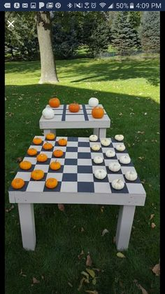 Pumpkin checkers and tic tax toe so cute octoberhalloween kids entertainment ideas bbq ideas fall festivals craft decorations carpentry shelves shelving woodworking joinery fandeluxe Image collections