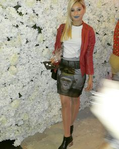 monkey skirts and golden heels at beyrouth fashion week @forever21