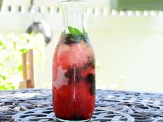Honey Blackberry Shrub Punch