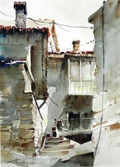 Corneliu Dragan-Targoviste #watercolor jd
