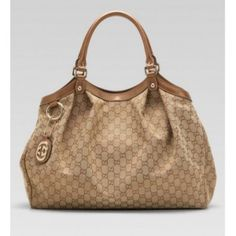 5947e8dc72bc Gucci Sukey Large Tote Beige Ebony Coral Leather Sale Gucci Bags Outlet