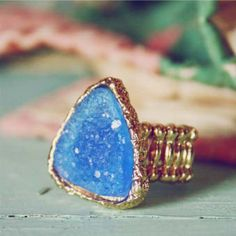#Spool No.72              #ring                     #Druzy #Ring, #Sweet #Country #Inspired #Jewelry    Druzy Sky Ring, Sweet Country Inspired Jewelry                                http://www.seapai.com/product.aspx?PID=1808644