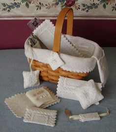Little Comforts Basket & Needlework Accessories (INSTANT DOWNLOAD) Learning Design / Hardanger / Counted Thread Pattern /Pulled Thread