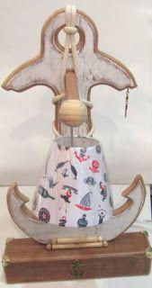 Ateliê Le Mimo: DECORAÇÃO MARÍTIMA E NÁUTICA  Luminária Âncora - peça em madeira