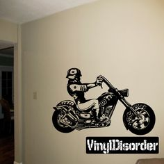 Chopper Wall Decal - Vinyl Decal - Car Decal - SM008