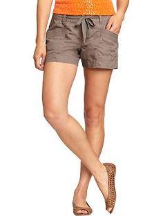 Women's Tie-Waist Linen-Blend Shorts | Old Navy