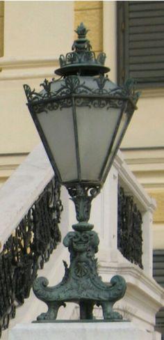 A detail of a lamp, Vienna, Austria.