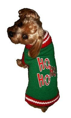 HO HO HO Dog Sweater from SimplyDogStuff.com will have everyone in the spirit to celebrate the season in no time.