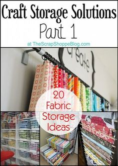 20 fabric storage solutions. If you have lots of fabric it is easy to get disorganized. Use one of these ways to keep it all organized and easy to find. #organize #fabric