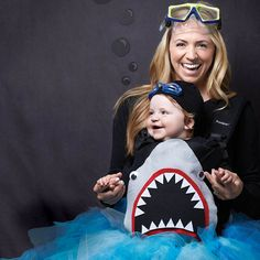 Be the talk of the deep seas with this frightfully cute shark costume. #Halloween