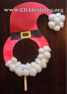 Child Care Basics Resource Blog: Paper Plate Santa Mask