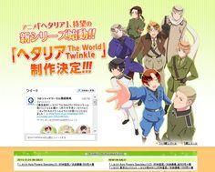 "Crunchyroll - 6th Anime Series ""Hetalia The World Twinkle"" Announced"