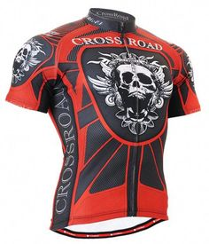 Cycling jersey bike clothes skull printed shirt for men 12085ddd9