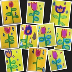 Flower molas in kindergarten - great cutting practice, from small to large Class Art Projects, Spring Art Projects, 3d Projects, Kindergarten Art Lessons, Art Lessons Elementary, Art Programs, Baby Art, Art Classroom, Classroom Ideas