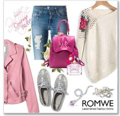 Floral Croshet Sweater with ROMWE
