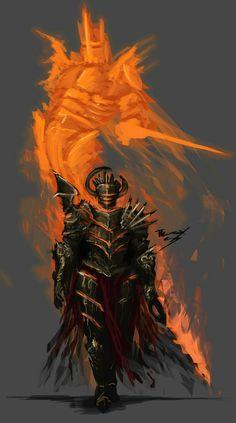 ArtStation - Agent of Vengance , Thomas Shirley Fantasy Armor, Dark Fantasy Art, Medieval Fantasy, Fantasy Fighter, Dnd Characters, Fantasy Characters, Fictional Characters, Dark Souls, Fantasy Character Design