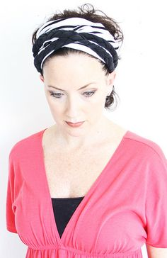 IMG_2603 by mealisab, via Flickr, two headband worn together, made from tee shirts