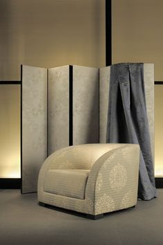 Rubelli | Armani/Casa - chinoiserie style - wonderful use of greys and browns