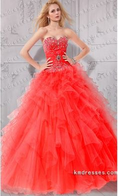 Fabulous Beaded Strapless Sweetheart Ruffles Layered Ball dress .prom dresses,formal dresses,ball gown,homecoming dresses,party dress,evening dresses,sequin dresses,cocktail dresses,graduation dresses,formal gowns,prom gown,evening gown.