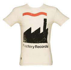 Men's Ecru Factory Records T-Shirt from Worn By xoxo