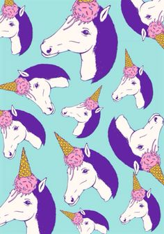 This is another illustration pattern piece. I find this visually exciting, bold and different. I like the idea that they have used an ice cream on the horses head which creates a unicorn look to the horse. The colours are very bold, however they balance well so that it is not too chaotic. I am also fond of the use of different sized horse as it creates a visually pleasing composition. It is fun, quirky and fresh.