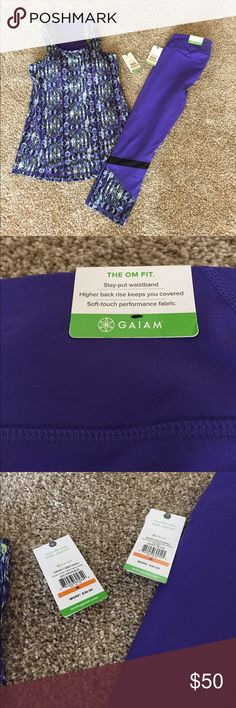YOGA/ WORK OUT CLOTHES Brand new matching set (tags attached) work out clothes. Size: medium, removable cups in the top. Feel free to ask any additional questions! Open to reasonable* offers. Or bundle up for an additional discount and private offer! GAIAM Other