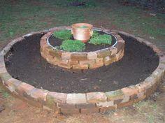 reclaimed brick raised herb bed